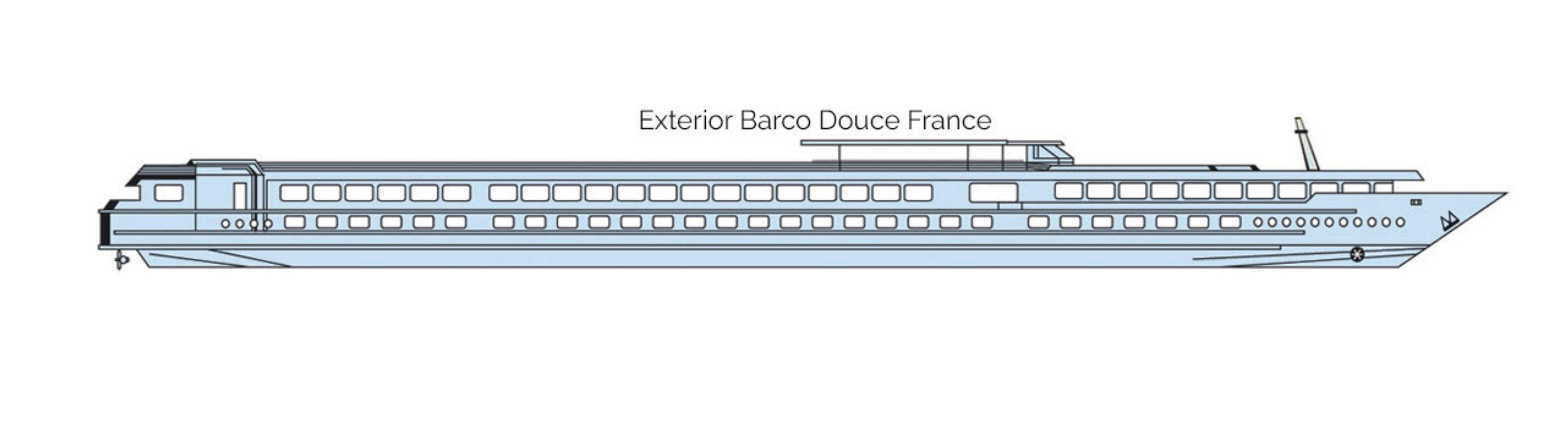 MS Douce France, Exterior del Barco