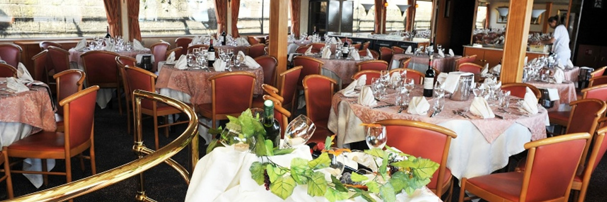 MS Rhone Princess 4 anclas MS Rhone Princess, restaurante