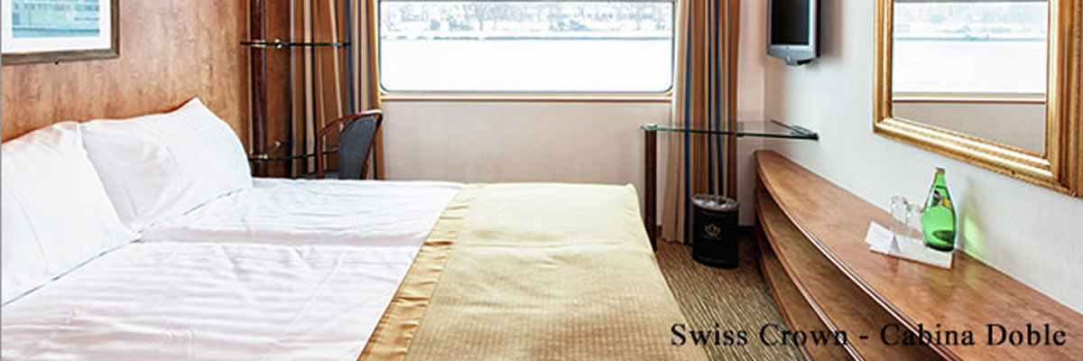 MS Swiss Crown, cabina doble