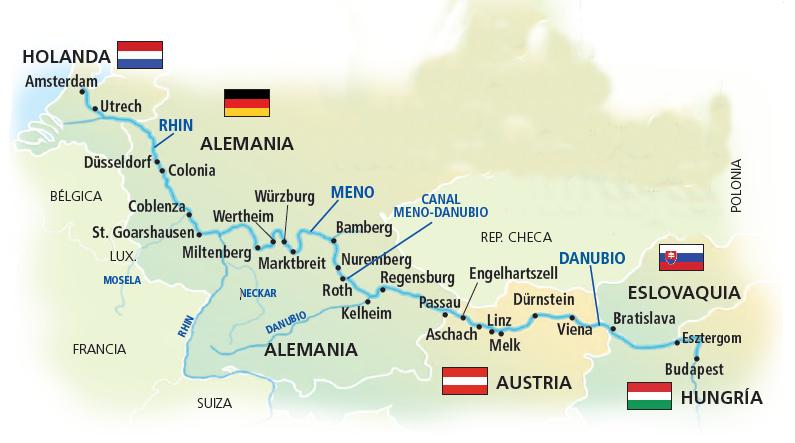 Mapa Gran Crucero Europa