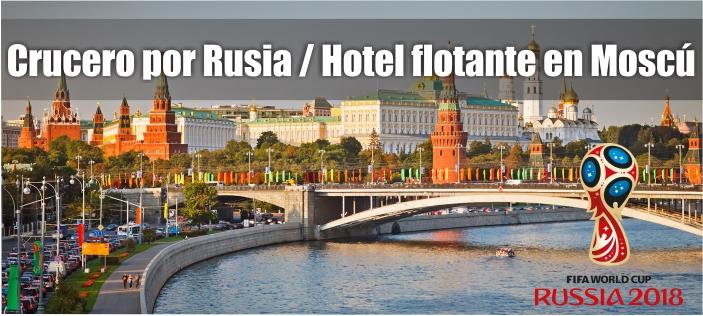 Crucero por Rusia / Hotel flotante en Moscú
